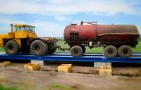 Автомобильные весы 100 тонн ВАЛ. Контрольное взвешивание трактора с прицепом. фото #40